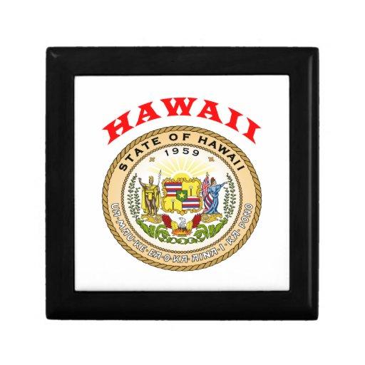 Großes Siegel von Staat Hawaii Erinnerungskisten