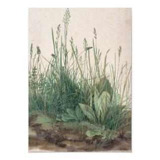 Großes Stück Rasen durch Albrecht Durer 12,7 X 17,8 Cm Einladungskarte