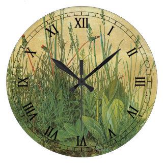 Großes Stück Rasen durch Albrecht Durer, Vintage Große Wanduhr