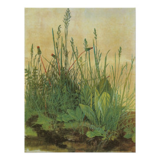 Großes Stück Rasen durch Albrecht Durer, Vintage Poster