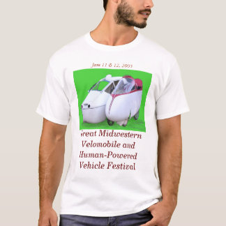 Großes Velomobile des Mittelwestens u. HPV T-Shirt