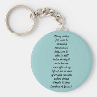 Großes Versprechen von Mary christlichem keychain Schlüsselanhänger