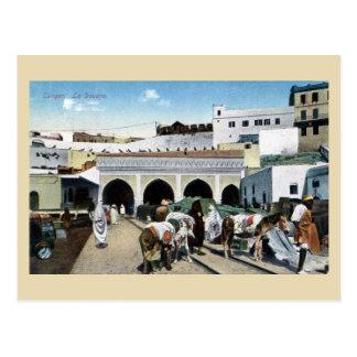 Großes Vintages Zollamt Marokkos Tanger Postkarte