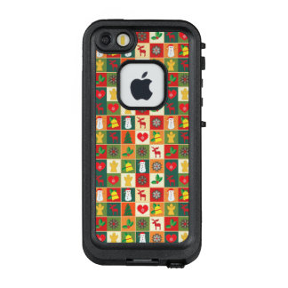 Großes Weihnachtsmuster LifeProof FRÄ' iPhone SE/5/5s Hülle
