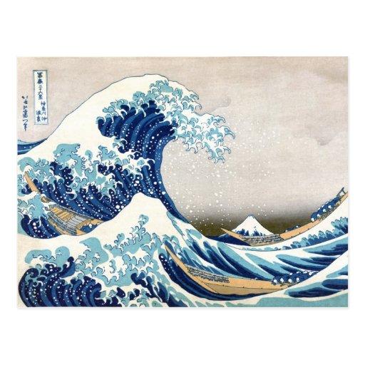 Großes Welle Hokusai 葛飾北斎の神奈川沖浪裏 Postkarten
