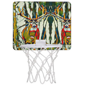 Großes Whitetail-Dollar-draußen Acrylmini Mini Basketball Ring
