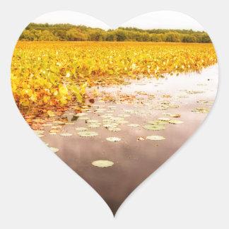 Großes Wiesen-Staatsangehörig-Schutzgebiet Herz-Aufkleber