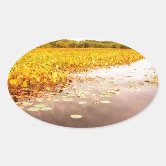 Großes Wiesen-Staatsangehörig-Schutzgebiet Ovaler Aufkleber