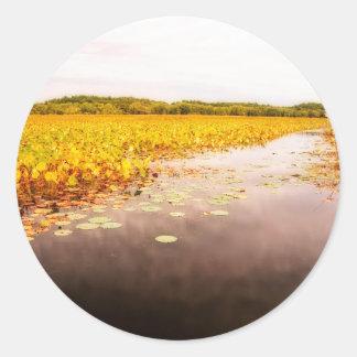 Großes Wiesen-Staatsangehörig-Schutzgebiet Runder Aufkleber