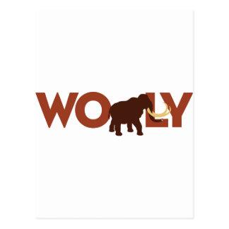 Großes Wooly Mammut Postkarte