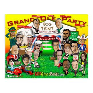Großes Zelt GOP Postkarte