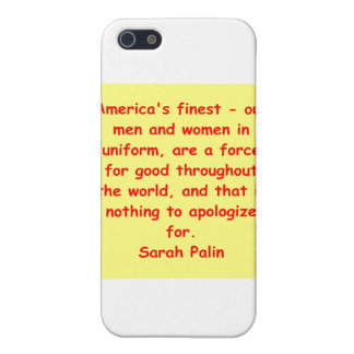 großes Zitat Sarahs Palin iPhone 5 Case