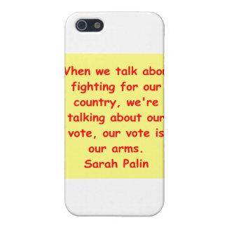 großes Zitat Sarahs Palin iPhone 5 Etuis