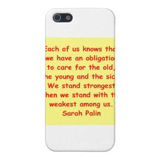 großes Zitat Sarahs Palin iPhone 5 Schutzhülle