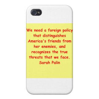 großes Zitat Sarahs Palin iPhone 4/4S Case