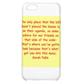 großes Zitat Sarahs Palin Hüllen Für iPhone 5C