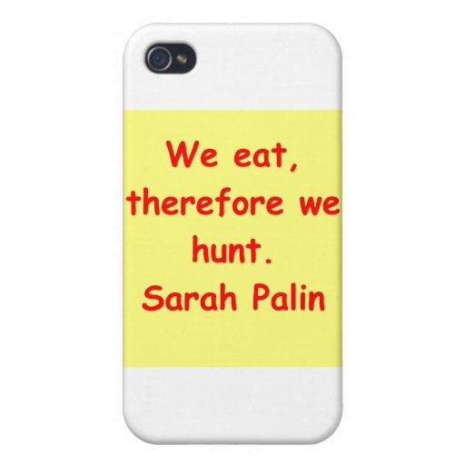 großes Zitat Sarahs Palin iPhone 4 Cover