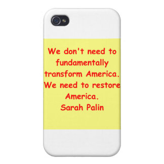 großes Zitat Sarahs Palin iPhone 4/4S Cover