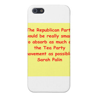 großes Zitat Sarahs Palin iPhone 5 Cover