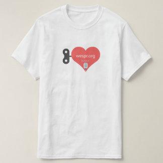 Großes Zuhörer-Herz WESPRadio Shirt
