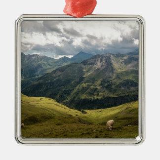 Grossglockner Tal Silbernes Ornament