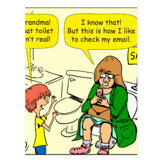 Großmutter 903 überprüft E-Mail-Cartoon Postkarte