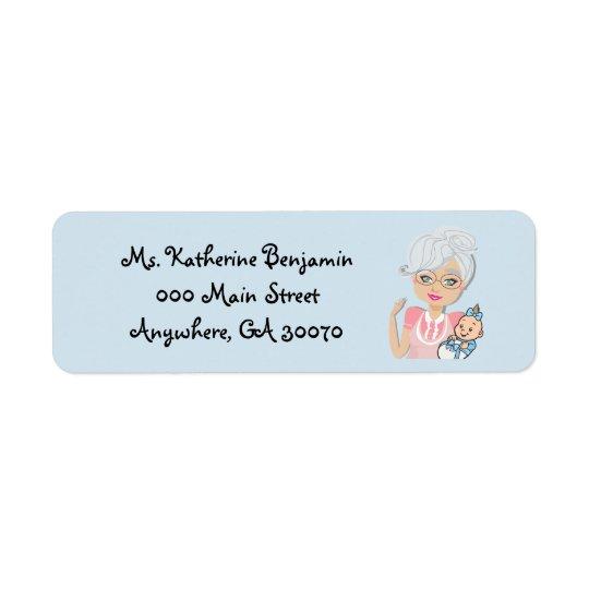 Großmutter-Baby-Duschen-Rücksendeadresse-Aufkleber Kleiner Adressaufkleber