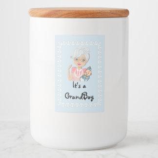 Großmutter-Babyparty-Nahrungsmittelglas-Aufkleber Lebensmitteletikett