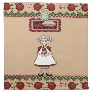 Großmutter-Backen-Torte Stoffserviette