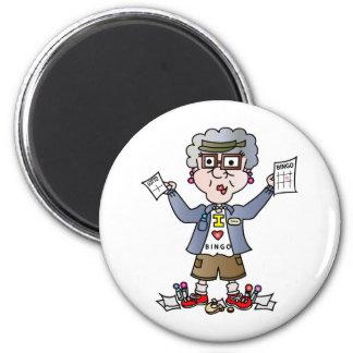 Großmutter-Bingo Runder Magnet 5,1 Cm