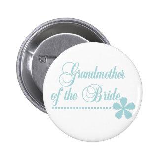 Großmutter der Braut-aquamarinen Eleganz Runder Button 5,1 Cm