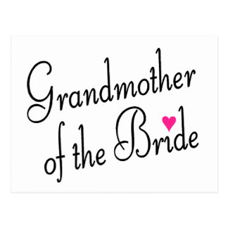 Großmutter der Braut Postkarte