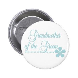 Großmutter der Bräutigam-aquamarinen Eleganz Runder Button 5,7 Cm