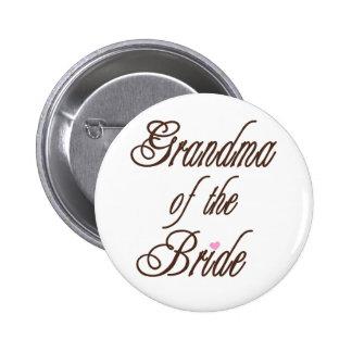 Großmutter des Braut-noblen Brauns Runder Button 5,7 Cm