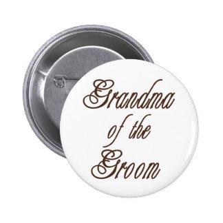 Großmutter des Bräutigam-noblen Brauns Runder Button 5,1 Cm