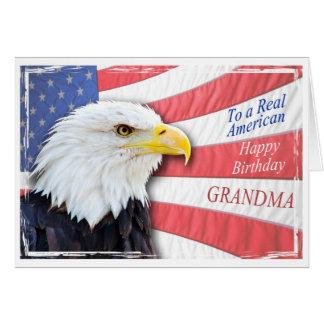 Großmutter, eine patriotische Geburtstagskarte Grußkarte
