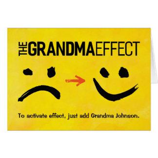 Großmutter-Geburtstag, der Großmutter-Effekt