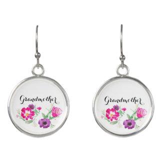 Großmutter-Geschenkwatercolor-Blumen-Ohrringe Ohrringe