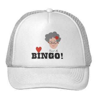 Großmutter-Liebe-Bingo-Hut Retrokultmütze