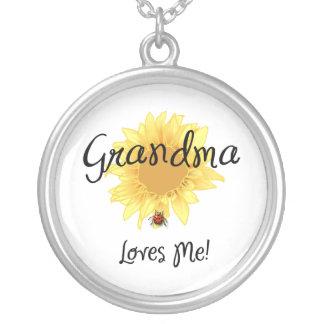 Großmutter-Lieben ich Versilberte Kette