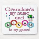 Großmütter mein Namensbingo ist mein Spiel Mauspad