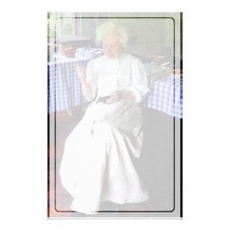 Großmutter-Nähen Briefpapier