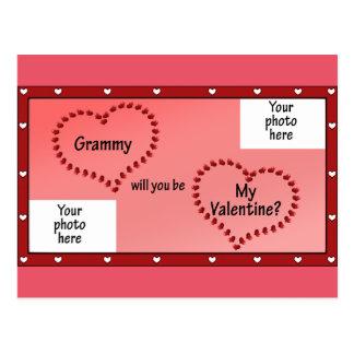 Großmutter-Valentinsgruß-Karte Postkarte