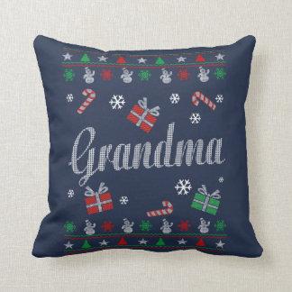 Großmutter-Weihnachten Kissen