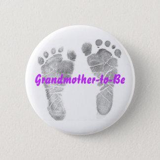 Großmutter-zu-seien Sie Runder Button 5,7 Cm