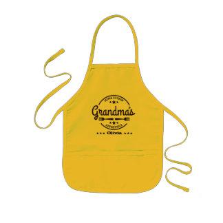 Großmutter-Zuhause Cookin Lehrling Kinderschürze