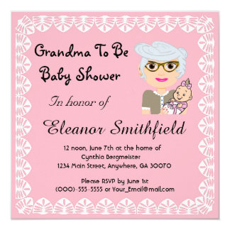 Großmutter, zum Babyparty-Einladung zu sein Karte