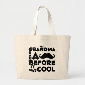 Großmutterschnurrbart Einkaufstasche