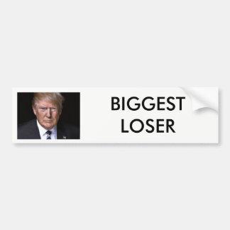 """Größter Verlierer"" Anti-Donald Trumpf Autoaufkleber"