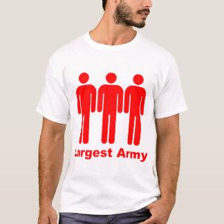 Größtes Armee-Rot T-Shirt